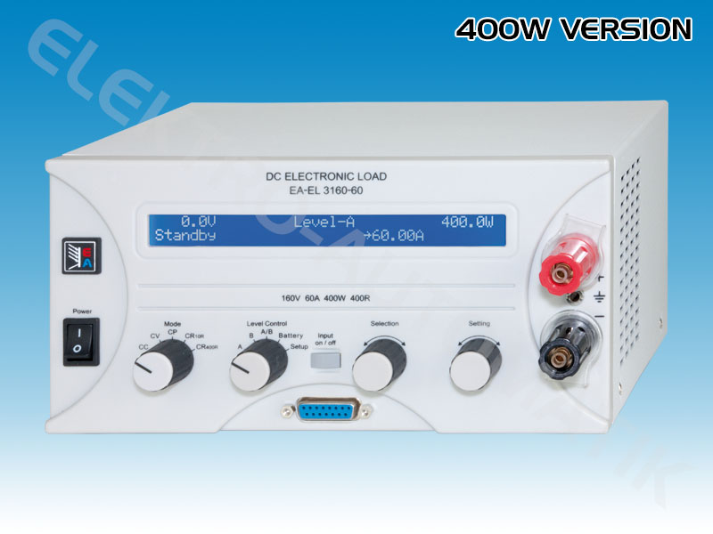 Series EL 3000<br>Conventional electronic loads<br>400W